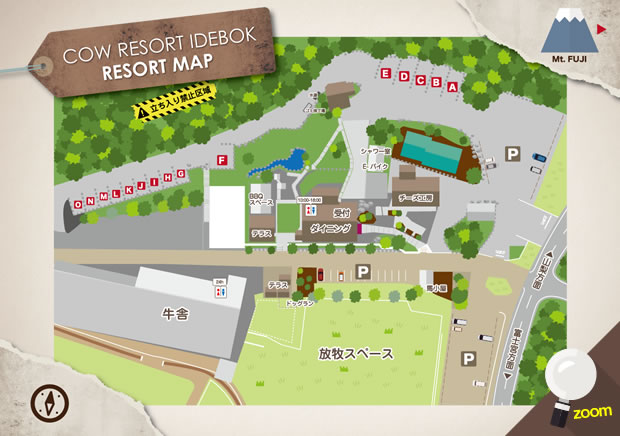 COW RESORT IDEBOK RESORT MAP
